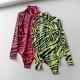 Clothes/footwear details Long Sleeve Print Slim Jumpsuit Fluorescent Jumpsuit (Shirts)