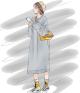 Clothes/footwear details Long-sleeved lazy wind knit dress (Dresses)