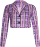 Clothes/footwear details Loose Cardigan Top Purple Plaid Joker To (Bolero)