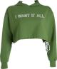 Clothes/footwear details Loose hem drawstring hooded sweater lett (Long sleeves shirts)