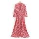 Clothes/footwear details Loose slim and versatile V-neck long-sle (Dresses)