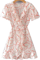 Clothes/footwear details Love Print Sweet Chiffon Short Sleeve Dr (Dresses)