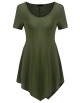 Clothes/footwear details LuckyMore Women's Casual Scoop Neck Summer Short Sleeve Tunic Tops Shirts (Tunic)
