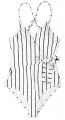 Clothes/footwear details LuckyMore Womens Fashion Stripe One-Piece Swimsuit Beach Swimwear Bathing Suit (Swimsuit)