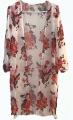 Clothes/footwear details LuckyMore Women's Floral Print Boho Beach Wear Chiffon Cover Up Tops Kimono Cardigan (Cardigan)