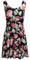 Clothes/footwear details LuckyMore Womens Summer Casual Fit and Flare Floral Print Sleeveless Tank Dress (Dresses)