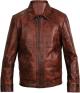 Clothes/footwear details MEN'S BROWN VINTAGE MOTORCYCLE LEATHER JACKET (Jacket - coats)