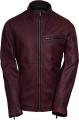 Clothes/footwear details MENS CASUAL SLIMFIT BURGUNDY LAMBSKIN LEATHER JACKET (Jacket - coats)