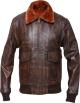 Clothes/footwear details MENS G-1 DISTRESSED BROWN BOMBER LEATHER JACKET (Jacket - coats)