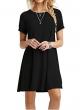 Clothes/footwear details MOLERANI Women's Casual Plain Short Sleeve Simple T-Shirt Loose Dress (Accessories)