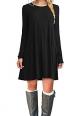 Clothes/footwear details MOLERANI Women's Long Sleeve Casual Plain Simple T-Shirt Loose Dress (Accessories)