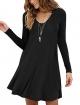 Clothes/footwear details MOLERANI Women's Long Sleeve Casual Swing Simple T-Shirt Loose Dress (Dresses)