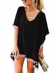 Clothes/footwear details MOLERANI Women's Pom Pom Trim Kaftan Chiffon Swimwear Beach Cover up (Swimsuit)