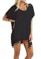 Clothes/footwear details MOLERANI Women's Stylish Chiffon Tassel Beachwear Bikini Swimsuit Cover up (Swimsuit)