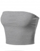 Clothes/footwear details Made by Emma Women's Fitted Solid Cotton Based Double Layered Crop Top (Shirts)