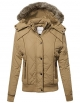 Clothes/footwear details Made by Emma Women's Quilted Puffer Jacket with Detachable Faux Fur Hood (Outerwear)