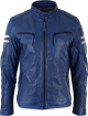 Clothes/footwear details Mens Casual Sheepskin Blue Leather Motorcycle Jacket (Jacket - coats)