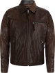 Clothes/footwear details Mens Classic Collar Style Brown Sheepskin Leather Jacket (Jacket - coats)