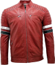Clothes/footwear details Mens Cowhide Red Leather Jacket (Jacket - coats)