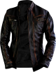 Clothes/footwear details Men's Dark Brown Retro Motorcycle Leather Jacket (Jacket - coats)
