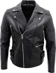 Clothes/footwear details Mens Genuine Cowhide Black Leather Bikers Jacket (Jacket - coats)