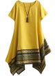 Clothes/footwear details Minibee Women's Ethnic Cotton Linen Short/Long Sleeves Irregular Dress (Dresses)
