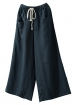 Clothes/footwear details Minibee Women's Linen Wide Leg Pants Elastic Drawstring Lounge Cropped Trousers (Pants)