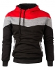 Clothes/footwear details Mooncolour Mens Novelty Color Block Hoodies Cozy Sport Outwear (Shirts)