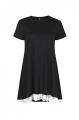 Clothes/footwear details Mooncolour Women's Casual Lace Splicing Short Sleeve A-Line Tunic Top T-Shirt Blouse (Shirts)
