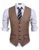 Clothes/footwear details PEATAO Men's Suit Vest, V Neck 5 Button Slim Formal Business Casual Waistcoat (Suits)