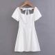 Clothes/footwear details Palace style white temperament dress (Dresses)