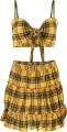 Clothes/footwear details Plaid Vest Pleated Skirt Set (Dresses)