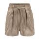 Clothes/footwear details Plaid high waist strap shorts casual pan (Shorts)