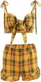 Clothes/footwear details Plaid vest wide leg pants suit (Dresses)