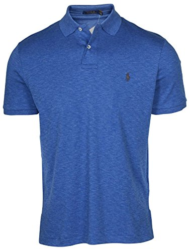 Heather 7105 Shirt Blue Polo Men's Pony Lauren Ralph Shirts Interlock A435jRL