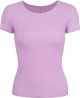 Clothes/footwear details Purple Ice Silk Round Neck Short Sleeve (T-shirts)