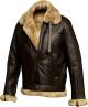 Clothes/footwear details RAF MEN'S BROWN SHEEPSKIN SHEARLING LEATHER BOMBER JACKET (Jacket - coats)