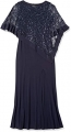 Clothes/footwear details R&M Richards Women's Laced Poncho Over a Long Sheath Dress (Dresses)