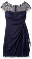 Clothes/footwear details R&M Richards Women's One PCE Short Missy Beaded Yolk Cocktail Dress, (Dresses)