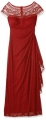 Clothes/footwear details R&M Richards Women's One Piece Sleeveless Long Mesh Missy Beaded Yolk Gown (Dresses)