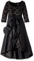 Clothes/footwear details R&M Richards Women's Plus Size Lace and Tafetta Hi Lo Dress Large (Dresses)
