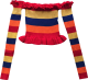 Clothes/footwear details Rainbow collar striped sweater with a wo (Shirts)