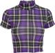 Clothes/footwear details Retro Half Turtleneck Plaid Short Sleeve (Shirts)