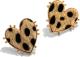 Clothes/footwear details Retro Peach Heart Leopard Earrings Nhjq284951 (Earrings)