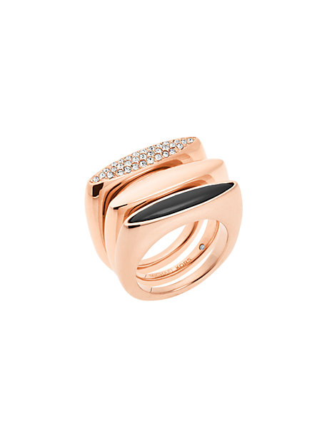 Stack Ring Rings Gold Michael Kors Rose VpUMqzGS