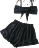 Clothes/footwear details Ruffled skirt + bow super short tube top (Dresses)