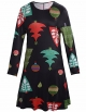Clothes/footwear details Ruiyige Women Girl Women's Christmas Pullover Flared A Line Dress (Dresses)