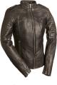 Clothes/footwear details SEXY BLACK BIKER WOMENS LEATHER JACKET (Jacket - coats)