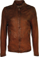 Clothes/footwear details SIMPLE BROWN BIKERS SLIM FIT LEATHER JACKETS FOR MENS (Jacket - coats)