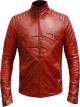 Clothes/footwear details SUPERMAN RED LEATHER JACKET FOR MEN (Jacket - coats)